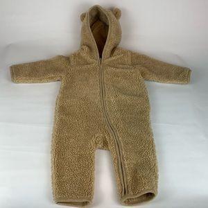 Baby Gap Brown Sherpa Hooded Bear Ears 6-12 Months
